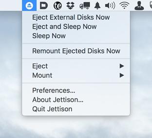 Jettison mac app store settings